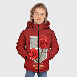 Куртка зимняя для мальчика Стационарная гвардия цвета 3D-черный — фото 2
