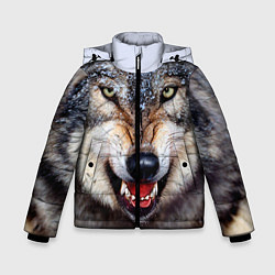 Куртка зимняя для мальчика Взгляд волка цвета 3D-черный — фото 1