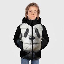Куртка зимняя для мальчика Взгляд пандочки цвета 3D-черный — фото 2
