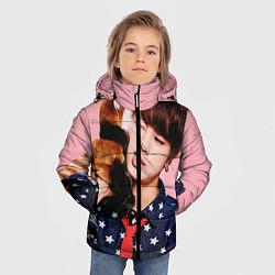 Куртка зимняя для мальчика BTS: Love Me цвета 3D-черный — фото 2