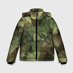 Куртка зимняя для мальчика Полигональный камуфляж цвета 3D-черный — фото 1