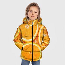 Куртка зимняя для мальчика Апельсин цвета 3D-черный — фото 2