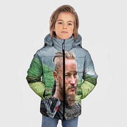 Куртка зимняя для мальчика Рагнар Лодброк цвета 3D-черный — фото 2