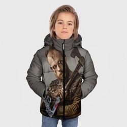 Детская зимняя куртка для мальчика с принтом Флоки, цвет: 3D-черный, артикул: 10073057606063 — фото 2
