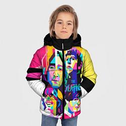 Куртка зимняя для мальчика The Beatles: Poly-art цвета 3D-черный — фото 2