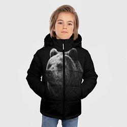 Куртка зимняя для мальчика Взгляд мишки цвета 3D-черный — фото 2