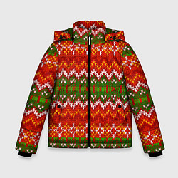 Куртка зимняя для мальчика Зимний узор - фото 1