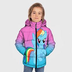 Детская зимняя куртка для мальчика с принтом My Little Pony, цвет: 3D-черный, артикул: 10075443506063 — фото 2