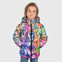 Куртка зимняя для мальчика My Little Pony цвета 3D-черный — фото 2