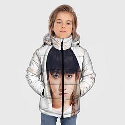 Куртка зимняя для мальчика Jeon Jung Kook цвета 3D-черный — фото 2