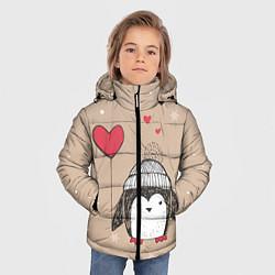 Куртка зимняя для мальчика Пингвин с шариком цвета 3D-черный — фото 2