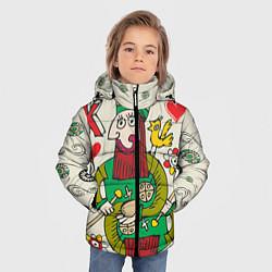 Куртка зимняя для мальчика Червовый король цвета 3D-черный — фото 2