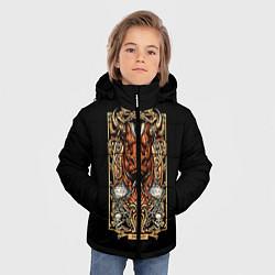 Куртка зимняя для мальчика Телец цвета 3D-черный — фото 2