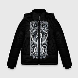 Куртка зимняя для мальчика Водолей цвета 3D-черный — фото 1