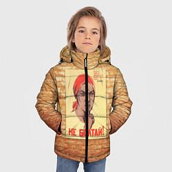 Куртка зимняя для мальчика Плакат СССР 1 цвета 3D-черный — фото 2