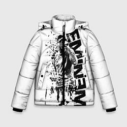 Куртка зимняя для мальчика Eminem Rap цвета 3D-черный — фото 1
