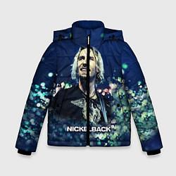 Куртка зимняя для мальчика Nickelback: Chad Kroeger цвета 3D-черный — фото 1