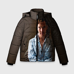 Куртка зимняя для мальчика Бенедикт Камбербэтч цвета 3D-черный — фото 1