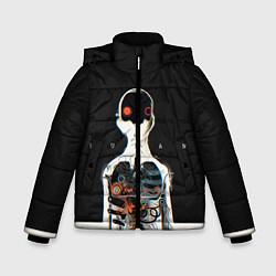 Куртка зимняя для мальчика Three Days Grace: Skeleton цвета 3D-черный — фото 1
