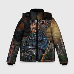 Куртка зимняя для мальчика Сталин военный цвета 3D-черный — фото 1