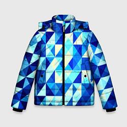 Зимняя куртка для мальчика Синяя геометрия