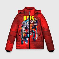 Куртка зимняя для мальчика KISS: Hot Blood цвета 3D-черный — фото 1