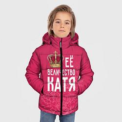 Куртка зимняя для мальчика Её величество Катя цвета 3D-черный — фото 2