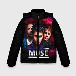 Куртка зимняя для мальчика Muse Band цвета 3D-черный — фото 1