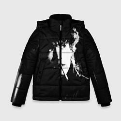 Куртка зимняя для мальчика Цой с сигаретой цвета 3D-черный — фото 1