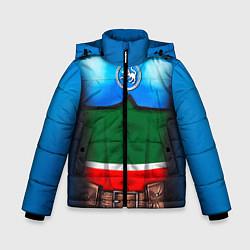 Детская зимняя куртка для мальчика с принтом Капитан Татарстан, цвет: 3D-черный, артикул: 10086777806063 — фото 1