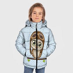 Куртка зимняя для мальчика Сова пилот цвета 3D-черный — фото 2