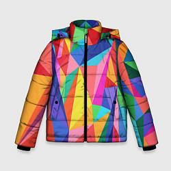 Куртка зимняя для мальчика Радуга цвета 3D-черный — фото 1