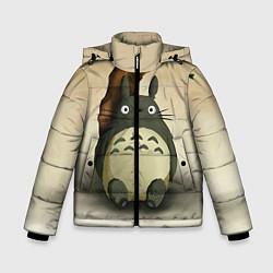 Куртка зимняя для мальчика Тоторо под деревом цвета 3D-черный — фото 1