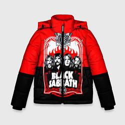 Детская зимняя куртка для мальчика с принтом Black Sabbath: Red Sun, цвет: 3D-черный, артикул: 10087840106063 — фото 1