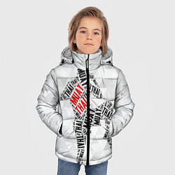 Куртка зимняя для мальчика Muay thai Words цвета 3D-черный — фото 2