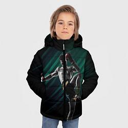 Куртка зимняя для мальчика Muay thai kick цвета 3D-черный — фото 2