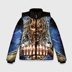 Детская зимняя куртка для мальчика с принтом Iron Maiden: Maidenfc, цвет: 3D-черный, артикул: 10089881006063 — фото 1