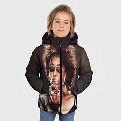 Куртка зимняя для мальчика Марла с сигаретой цвета 3D-черный — фото 2