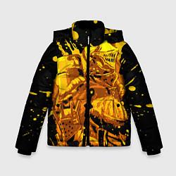 Куртка зимняя для мальчика Dark Souls: Gold Knight цвета 3D-черный — фото 1