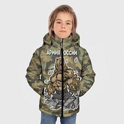 Куртка зимняя для мальчика Армия России: ярость медведя цвета 3D-черный — фото 2