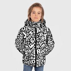 Детская зимняя куртка для мальчика с принтом Английский алфавит, цвет: 3D-черный, артикул: 10092150206063 — фото 2