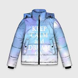 Куртка зимняя для мальчика Keep Calm & Dream цвета 3D-черный — фото 1