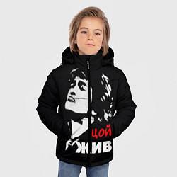 Куртка зимняя для мальчика Цой жив цвета 3D-черный — фото 2