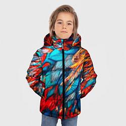 Куртка зимняя для мальчика Перья цвета 3D-черный — фото 2