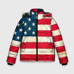 Куртка зимняя для мальчика США цвета 3D-черный — фото 1