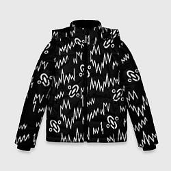 Куртка зимняя для мальчика Chemical Brothers: Pattern цвета 3D-черный — фото 1