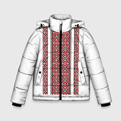Куртка зимняя для мальчика Вышивка 13 цвета 3D-черный — фото 1