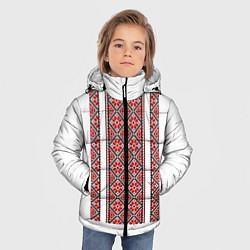Куртка зимняя для мальчика Вышивка 13 цвета 3D-черный — фото 2