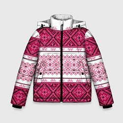 Куртка зимняя для мальчика Вышивка 34 цвета 3D-черный — фото 1