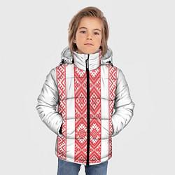 Куртка зимняя для мальчика Вышивка 46 цвета 3D-черный — фото 2